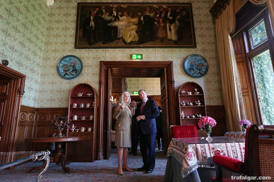 "NO RERPRO FEE"" 17/4/2015. Pictured today at the re-opening of Ashford Castle are An Taoiseach, Enda Kenny, T.D. with Mrs Beatrice Tollman, Founder and President of Red Carnation Hotels. The hotel has been restored over the past two years at a cost of $50million and now employs 300 people. .Photo: Leon Farrell/Photocall Ireland."