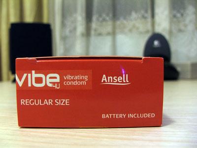 Ansell vibe4u Vibrating Condom - Top