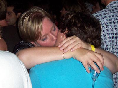Lesbian couples kissing