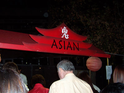 Asian food stall