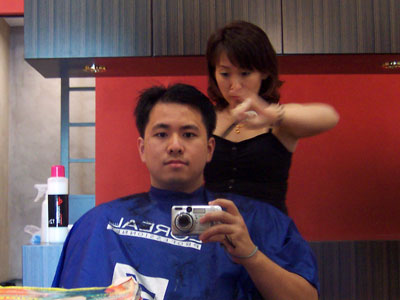 Hair Wash by Ling, Hair Cut by Lina