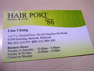 Hair Port '86 Name Card
