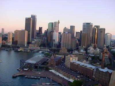 Sydney Cityscape in sunset