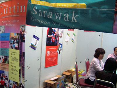 Curtin Sarawak Booth