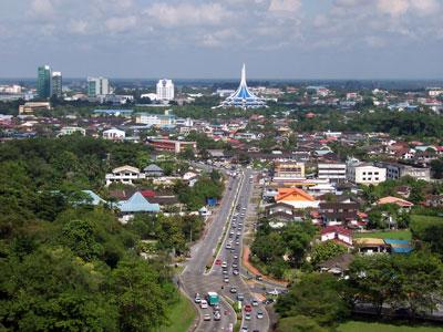 Kuching's cityscape