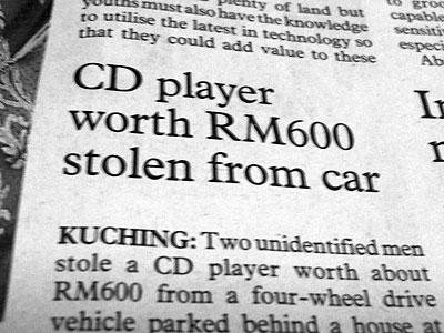 CD Player stolen