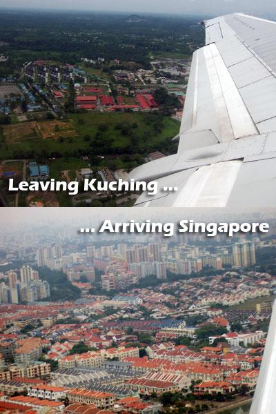 Leaving Kuching