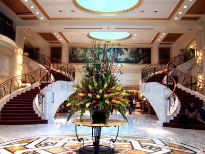 Stunning interior decor of the Royal Plaza On Scotts