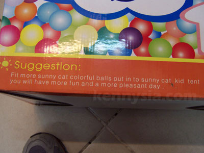 Box of balls, suggestion