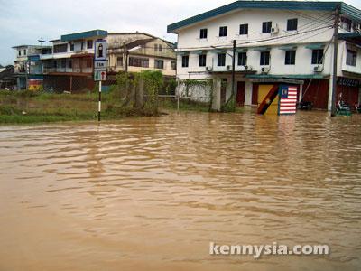 Sibu, flooded