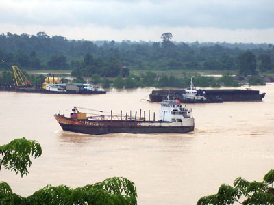 Rejang River and Ship