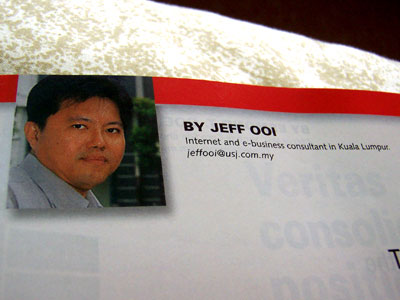 Jeff Ooi in magazine